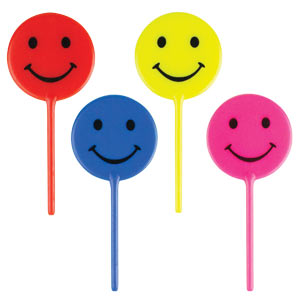 Smiley Face Picks - Asst.