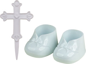 Baby Shoes With Cross Set