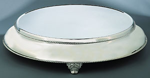 Silverplated Cake Platform-16