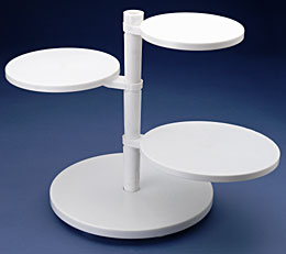 Adjustable Tier Cake Stand - White Pl.
