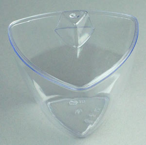 Disposable Cups - 3-Sided Bowl W/ Handled Lid