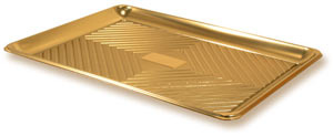 Gold Pastry Trays - 37 x 51 cm