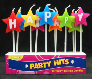 Happy Birthday Star Letter Candles