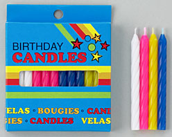 Spiral Candles- Pink- Blister Card