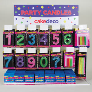 Countertop Flat Rack - Large Glitter Numbers