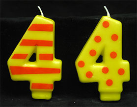 Crazy Number Candles- # 4