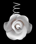 Tea Rose Single W/Wire-Small White