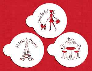 Stencil: I Love Paris Cookie Set