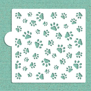 Stencil:  Mini Dog Paws