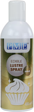 Large PME Lustre Spray - Gold (400 ml)