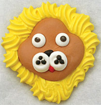 Lion W/Yellow Mane Cookie Face