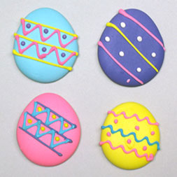 Decorated Easter Eggs - Royal Icing