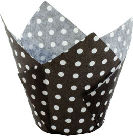 Tulip Cup - Polka Dot - Black