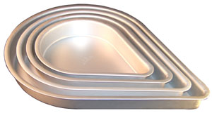Tear Drop Pan - Aluminum - 14
