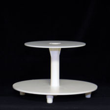 2-Tier Cake Stand - White