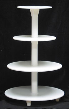 4-Tier Cake Stand - White