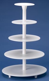 5 Tier Cake Stand   White