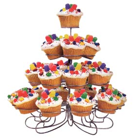 4 Tier Wire Cupcake Stand