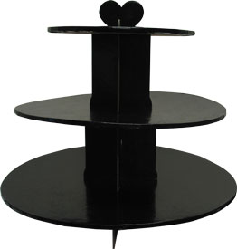 Black Foil 3-Tier Cupcake Stand