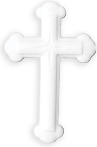 Ornate White Cross Sugar