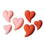 Teardrop Hearts-Red & Pink Asst Sugars