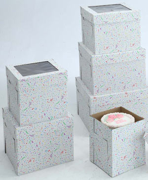 Party Print Cake Boxes - 16