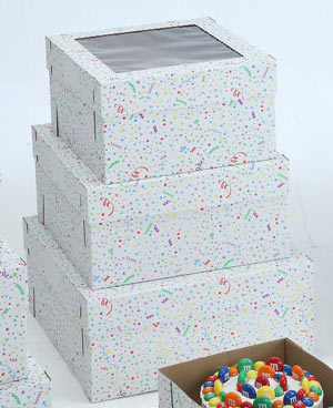 Party Print Cake Boxes - 14
