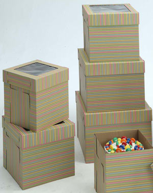 Striped Cake Boxes - 10